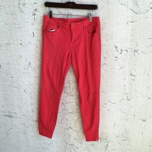 KUT FROM THE KLOTH RED SKINNY ANKLE PANTS 6